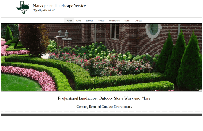 SEO Services and Website Design For Landscape Company in Abilene Texas