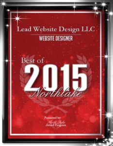 Best Website Designer in Northlake Texas 2015 Award