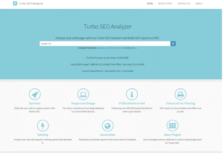 Software Programming Website Allows Running SEO Analysis