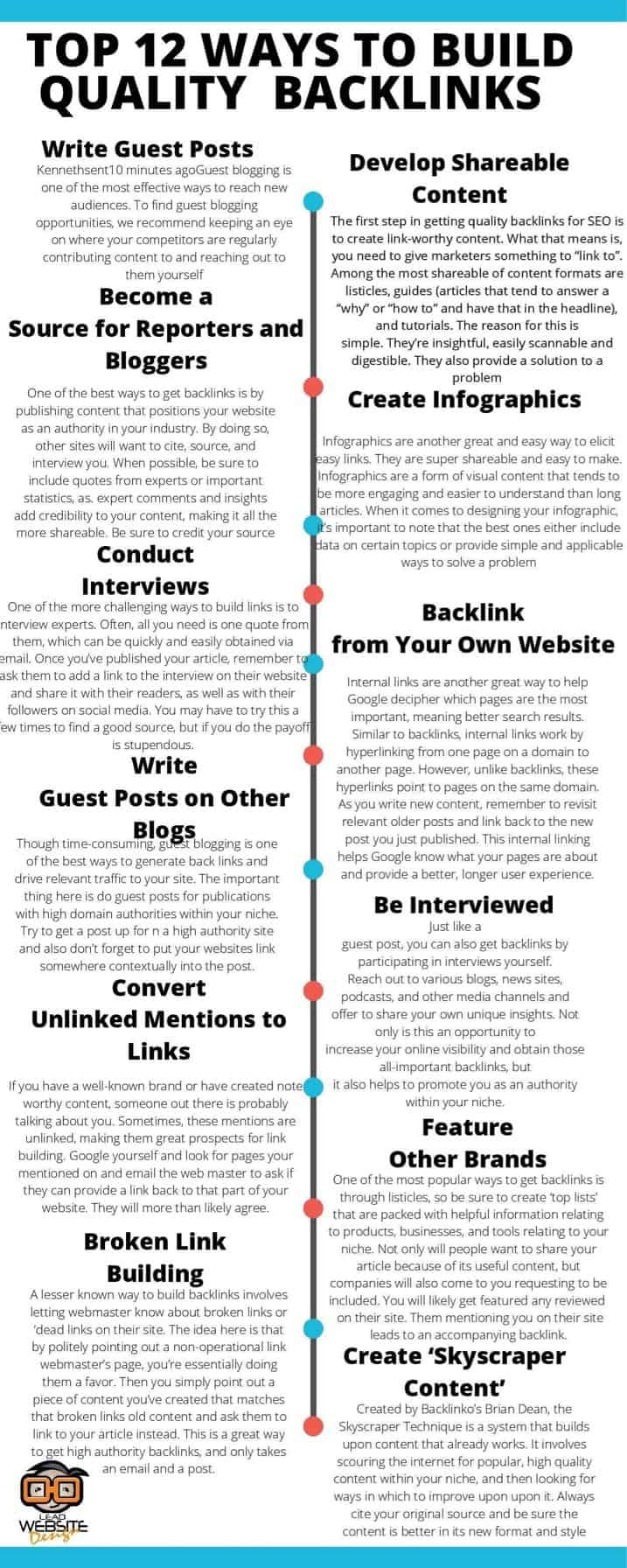 12 Ways To Build Quality Backlinks