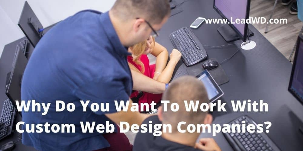 Why Do You Want To Work With Custom Web Design Companies